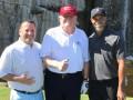 Woods si na Vianoce zahral golf s Trumpom