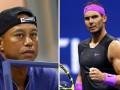 Za podporu poklona, Nadala potešila Woodsova prítomnosť na tenisovom US Open